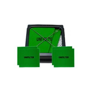 유니필터 에어크리너 셋트(Uni Air Filter SET)[삼성자동차용] - 유니필터 1개 + 리필여과재(Filter-Foam) 4(2*2)개(원조습윤식필터, 유사품 주의!!)