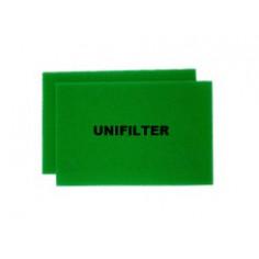 유니필터 에어크리너 리필용 여과재(Uni Air Filter Filter-Foam)[삼성자동차용] - 4(2*2)개(원조습윤식필터, 유사품 주의!!)