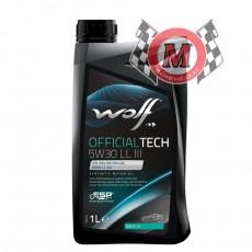 WOLF[울프] OFFICIALTECH LL-III 5W30[1L] (ESTER BASE 100% 합성유)  - 12통 이상 무료배송